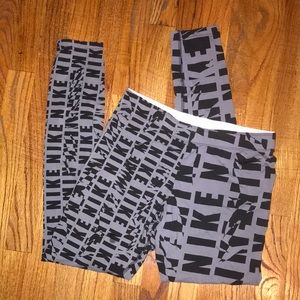 Nike Logo Leggings, M